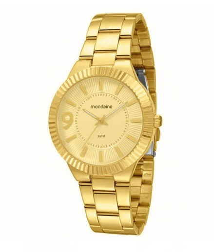 Relógio Mondaine Feminino Dourado - 60458lpmede1