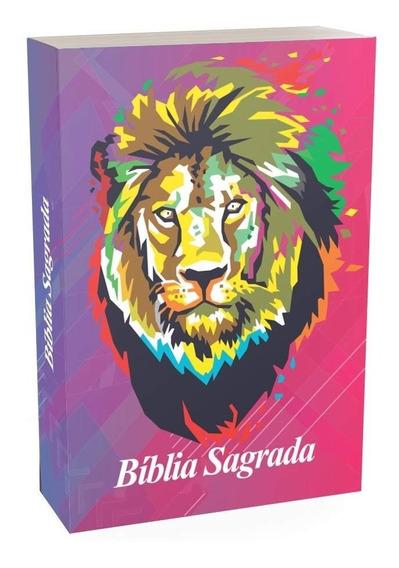 Bíblia Sagrada Cara De Leão Possui Antigo E Novo