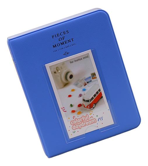64 Poeta Álbum De Fotos Para Fujifilm Instax Mini 8, 9 Azul