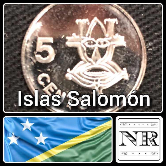 Islas Salomon - 5 Cents 2005 - Km # 26 A - Mascara