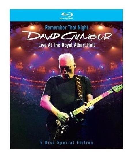 David Gilmour - Remember That Night [2 Blu-ray] Importado