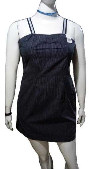 Vestido Listado Ampulheta Plus Size (do 44 Ao 50)