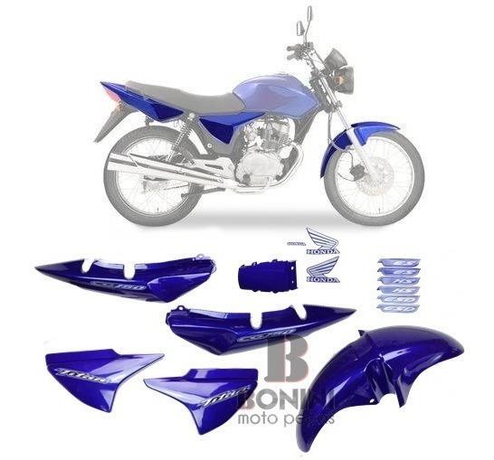 Kit Carenagem Cg 150 Titan 2004 Ks 04 Azul C - Adesivo