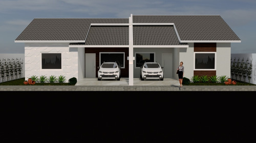 Imagem 1 de 4 de Planta De Casa Geminada - Projeto Arquitetônico Completo