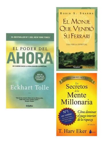 Imagen 1 de 1 de El Poder Del Ahora + El Monje + Secretos De La Mente- Nuevos