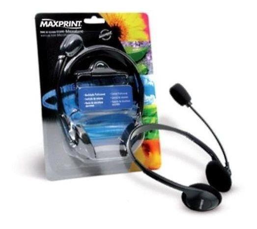 Fone De Ouvido Com Microfone Maxprint