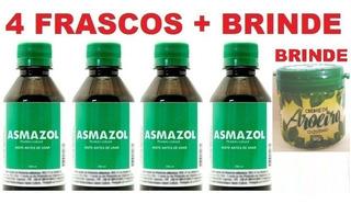 Asmazol 100% Natural - 4 Frascos - Frete Grátis + Brinde