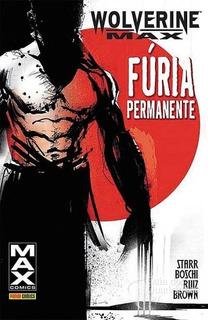 Hq Wolverine Max - Fúria Permanente /panini