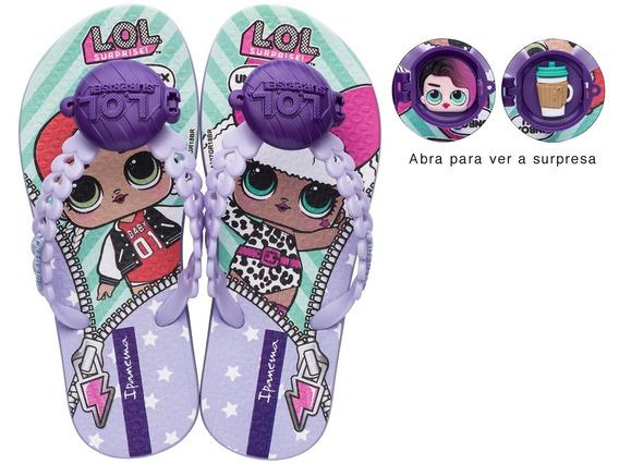 Chinelo Grendene Lol Surprise Doll Roxo