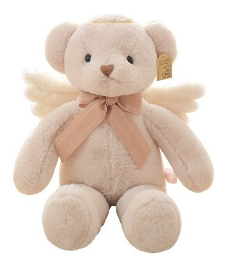 Boneca Pelúcia Urso Anjo Grande Decoração Quarto Lindo