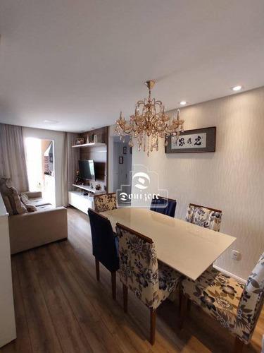 Apartamento Com 2 Dormitórios À Venda, 60 M² Por R$ 477.000,00 - Vila Alzira - Santo André/sp - Ap15831