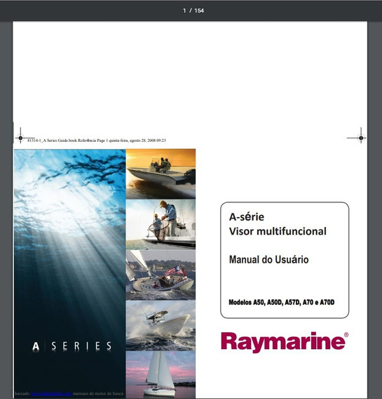 Manual Em Português Do Gps Raymarine A50d, A57d E A70d