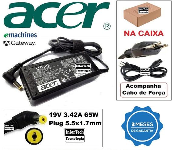 Carregador Para Notebook Acer 19v 3.42a Novo!