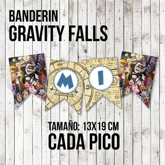 Banderín Digital Personalizado Cumple Gravity Falls Mabel