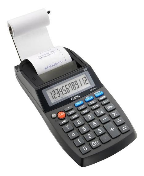 Calculadora De Impressão 12 Dígitos Lcd Preta Elgin