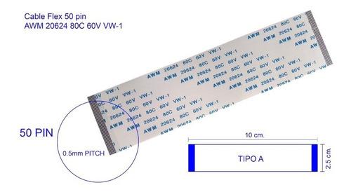 Imagen 1 de 2 de Cable Flex 50pin Awm 20624 80c 60v Vw-1