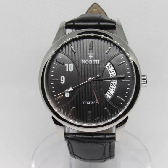 Relógio North Casual Luxo Militar Social Pulseira Couro