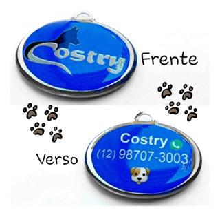 Placa De Identificação Personalizada Para Cães E Gatos