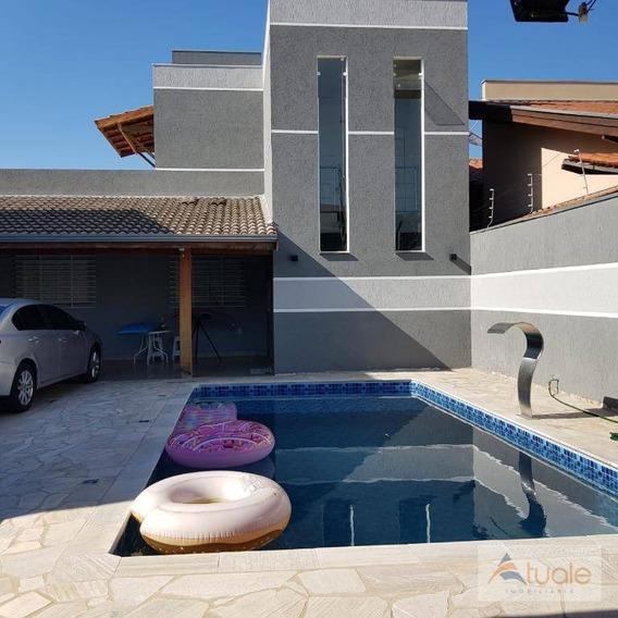 Casa Com 4 Dormitórios À Venda, 188 M² Por R$ 495.000 - Jardim Residêncial Firenze - Hortolândia/sp - Ca6571