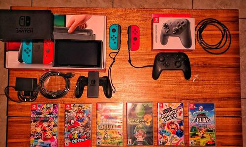 Nintendo Switch + 10 Juegos  + Pro Controller