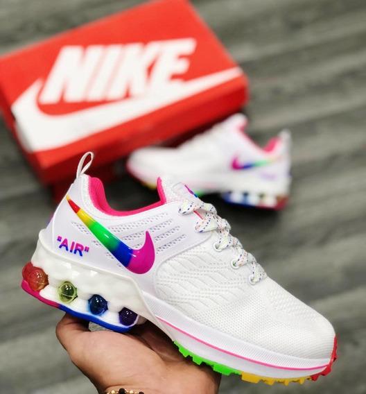 Zapatillas Tenis Nike Turbo Ii Mujer Original Negro Fucsia