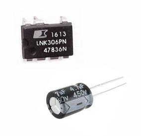 Lnk306pn Lote 30 Peças Lnk 306pn + 30 Capacitores 4,7 X 450v