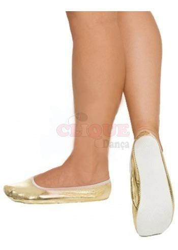 Sapatilhas Maria Mole Douradas Para Carnaval