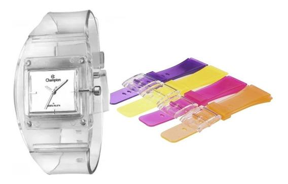 Relógio Feminino Champion Troca Pulseiras Cp28220s / 62644