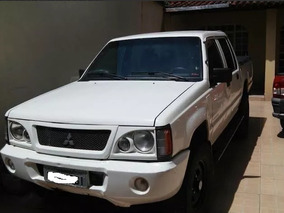 L200 Gl2.5 Completa 4x4 Diesel Cabine Dupla Branca 2006 Top