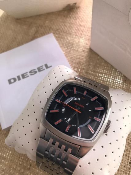 Relógio Diesel Original Quadrado Masculino Dz1588