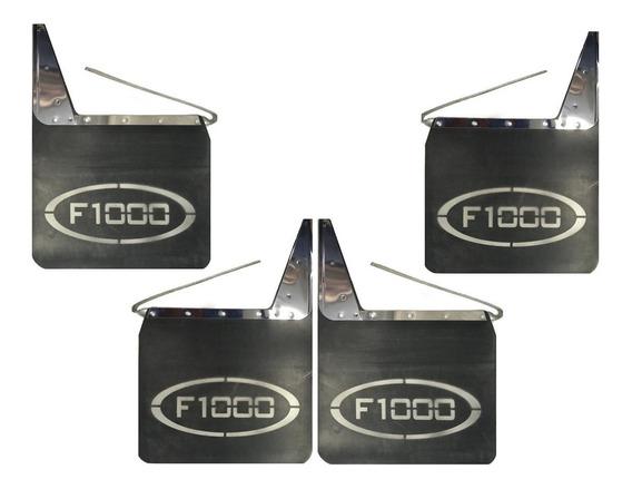 Kit Apara Barro Ford F1000 Lameiro Diant Tras Borracha Inox