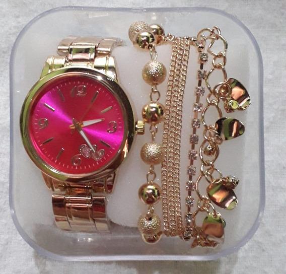 20 Kit De Relógio +pulseira +caixinha