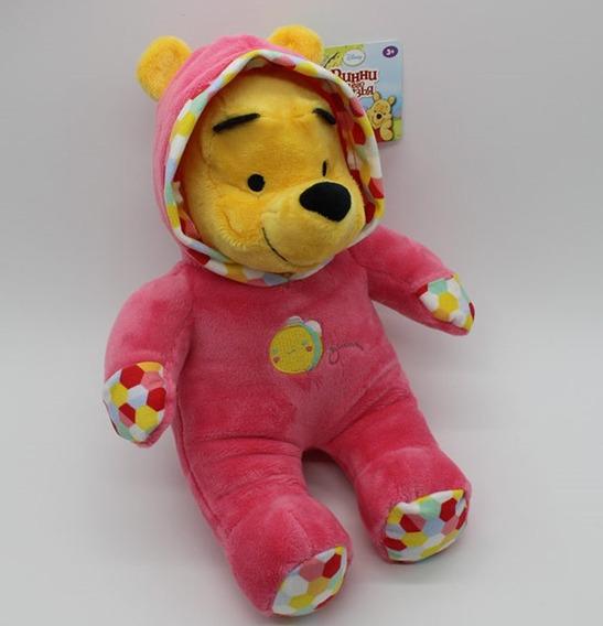 Ursinho Pooh Com Macacão 32cm Original Disney Pronta Entrega