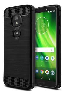 Funda Rugged Armor Fibra Carbono Motorola Moto G6 Play E5