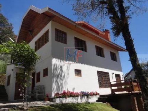 Imagem 1 de 12 de Lindíssima  Casa Completíssima, Mobiliada  Jardim Manancial Campos Jordão - 4057