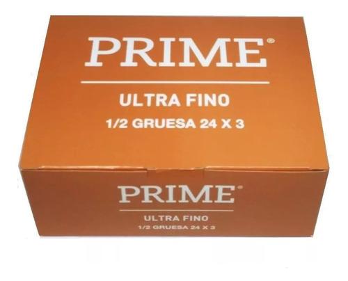 Preservativos Prime Ultra Fino 24 Cajitas X 3 Unidades