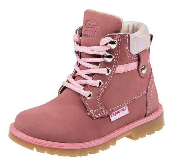 Bota Y Botin Trends 1802 Niña Bebe Talla 12-14 Color Rosa P