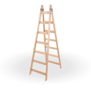 Escalera Pintor De Madera Reforzada 7 Escalones - Prestigio