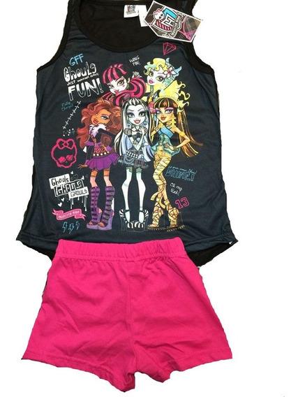 Pijama Monster High Draculaura Frankie Stain Lagoona Wolfie