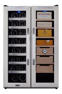 Refrigerador Y Humidor 16botellas Vino 350cigarros Higrómetr