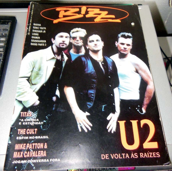 Revista Bizz Ed. 76 - Novembro 1991 - U2 Sepultura Titãs