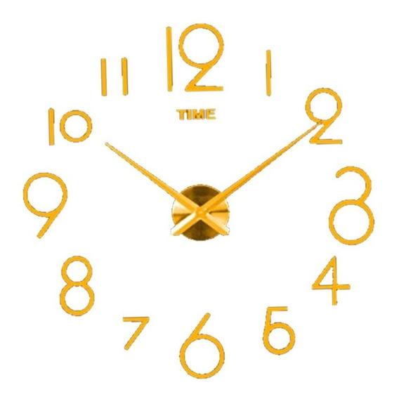 Reloj De Pared Moderno 120cm Funcional 3d Minimalista Cuarzo