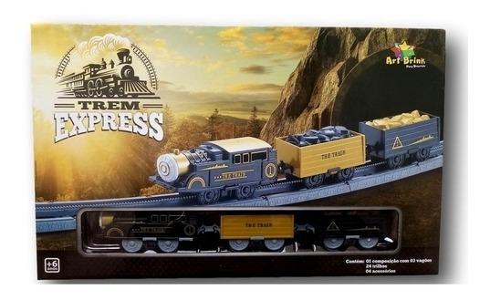 Brinquedo Locomotiva Trem Express Trenzinho Infantil
