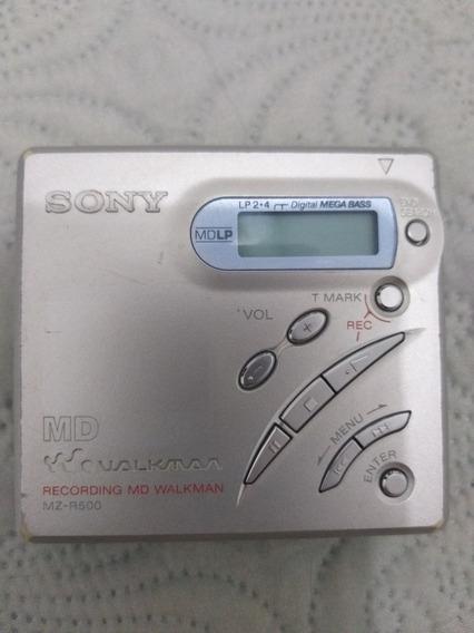 Minidisc Walkman Sony Mz-r500. Usado. Bom Estado.
