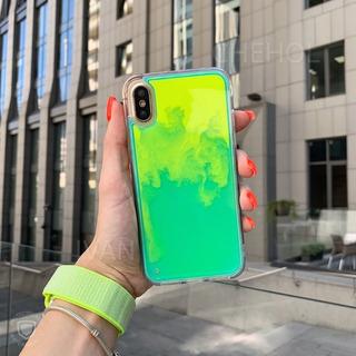 Case De Arena De Neon Para iPhone X