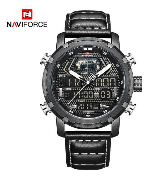 Reloj Deportivo Digital Naviforce Nf9160 Para Hombres-negro