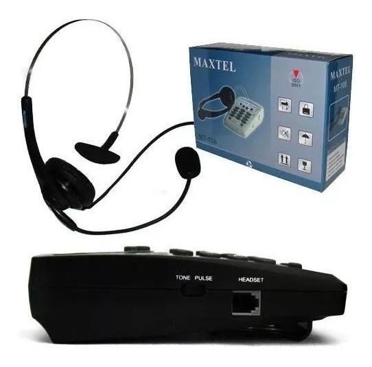 Telefone Headset Maxtel Mt-108 Atendimento Em Telemarketing