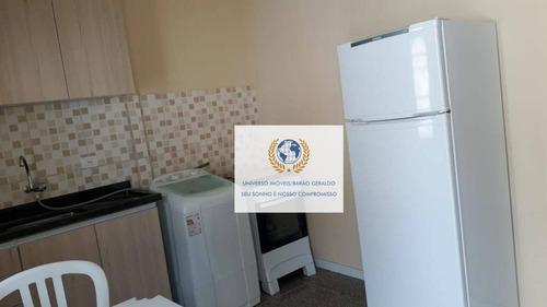 Kitnet Com 1 Dormitório Para Alugar, 25 M² Por R$ 1.000,00/mês - Jardim José Martins - Campinas/sp - Kn0132