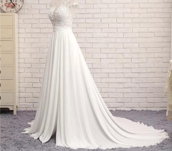 Vestido De Noiva Modelo Praia Tam: 36 - 40
