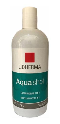 Imagen 1 de 5 de Lidherma Agua Micelar Aquashot Locion 500ml